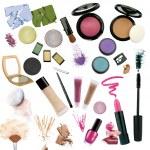 Various cosmetics isolated on white background — Stock Photo