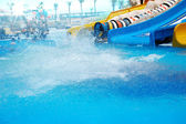 Aquapark and a pool — Stock Photo