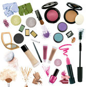 Various cosmetics isolated on white background — Stock Photo