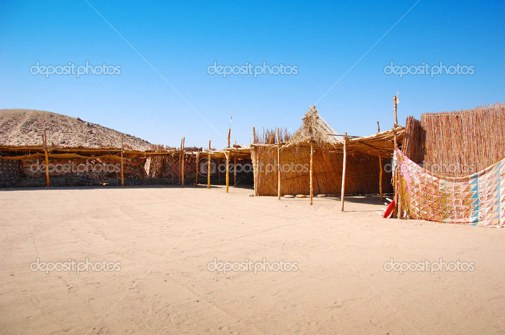 Photo of Bedouin village in the desert  — Stock Photo #5850905