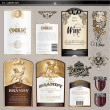 Vector de stock : Labels set