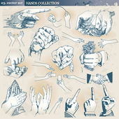 Hands collection — Vector de stock
