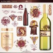 Stock vektor: Wine labels set