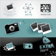 Photo icons set — Stock vektor