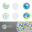 Set of globe icons — Stock Vector #6098040