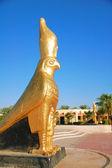 Egyptian statuettes - Horus, Egyptian god — Stock Photo