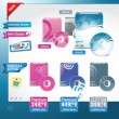 Royalty-Free Stock Vektorfiler: Software  set of vector elements