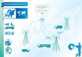 Transport and logistics elements — Stock Vector