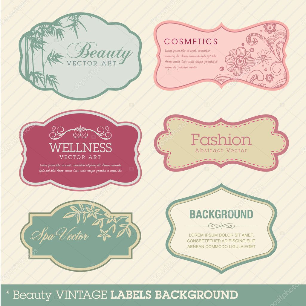 Set of vector vintage labels  Grafika wektorowa #6495870