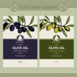 Royalty-Free Stock Vectorielle: Set of olive oil labels