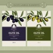 Set of olive oil labels — Stock Vector