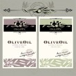 Vector de stock : Set of olive oil labels