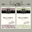 图库矢量图片: Set of olive oil labels