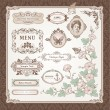 Collection of vintage elements — Vector de stock #6685488