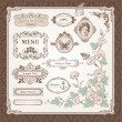 Collection of vintage elements - Stock Vector