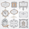 Royalty-Free Stock Vector Image: Collection of vintage labels and stickers