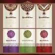 Collection of wine labels — Vector de stock #6686470