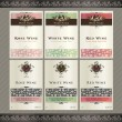Set of wine label templates — 图库矢量图片