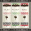 Stock Vector: Set of wine label templates