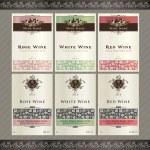 Set of wine label templates — Stock Vector
