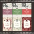Set of wine labels — Vector de stock #6686503