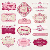 Collectie van vintage labels en stickers — Stockvector