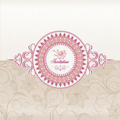 Wedding invitation card — Vetor de Stock