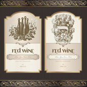 Set of wine labels — Stock Vector