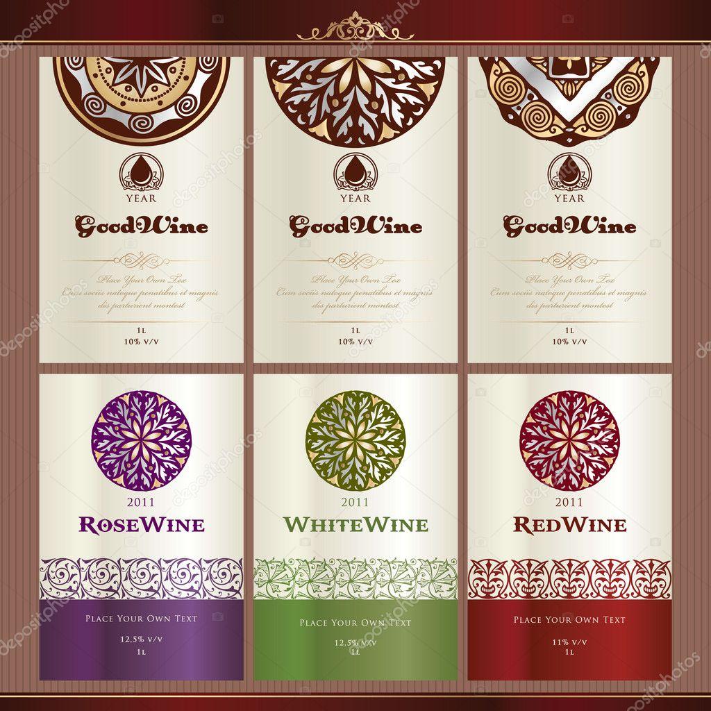 Collection of wine labels Vector tanjakrstevska 6686470 – Free Wine Label Design