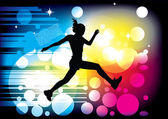 Jumping woman — Stock Vector