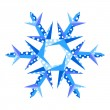 Origami snowflake - Stock Vector