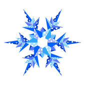 Origami snowflake — Stock Vector