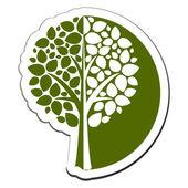 Vector tree emblem 1 — Stock Vector