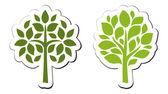 Vector emblema árbol 3 — Stok Vektör