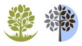 Vector emblema árbol 3 — Vector de stock