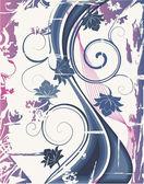 Flores y olas 3. ilustración vectorial — Vector de stock