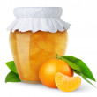 Tangerine jam — Stock Photo