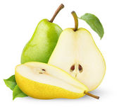 Green and yellow pears — Stock Photo