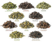 Chinese oolong tea collection — Stock Photo