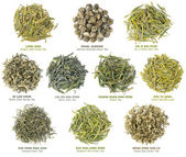 Chinese green tea collection — Stock Photo