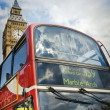 Doubledecker bus and Big Ben — Stock Photo