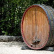 Old wine barrel - Stock Photo