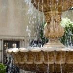 Courtyard fountain — Stock Photo