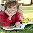 Boy reading - Stock Photo