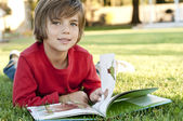 Boy reading — Stock Photo
