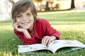 Boy reading — Stock Photo
