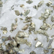 Quartz with pyrite — Stock Photo