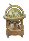 Old World Wooden Globe with Stand — Stock Photo