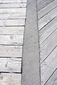 Wooden walkway pattern — Stock Photo