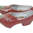 Painted Wooden Shoes — Stock Photo